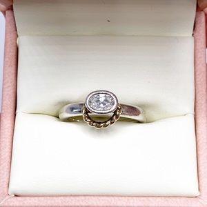 Pandora Oval CZ Sterling Silver Ring
